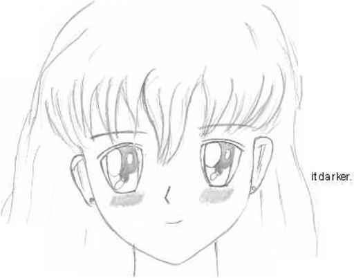 Blushing simple draw