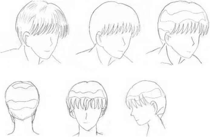 Drawing Hairlines : Hair shading draw anime joshua nava arts