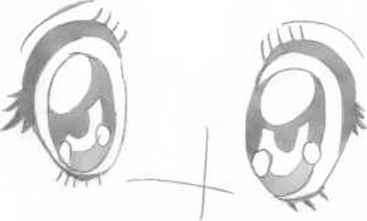 Drawing Happy Eyes