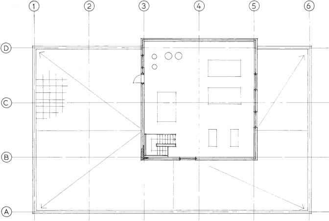 Roof Level Plan Cad