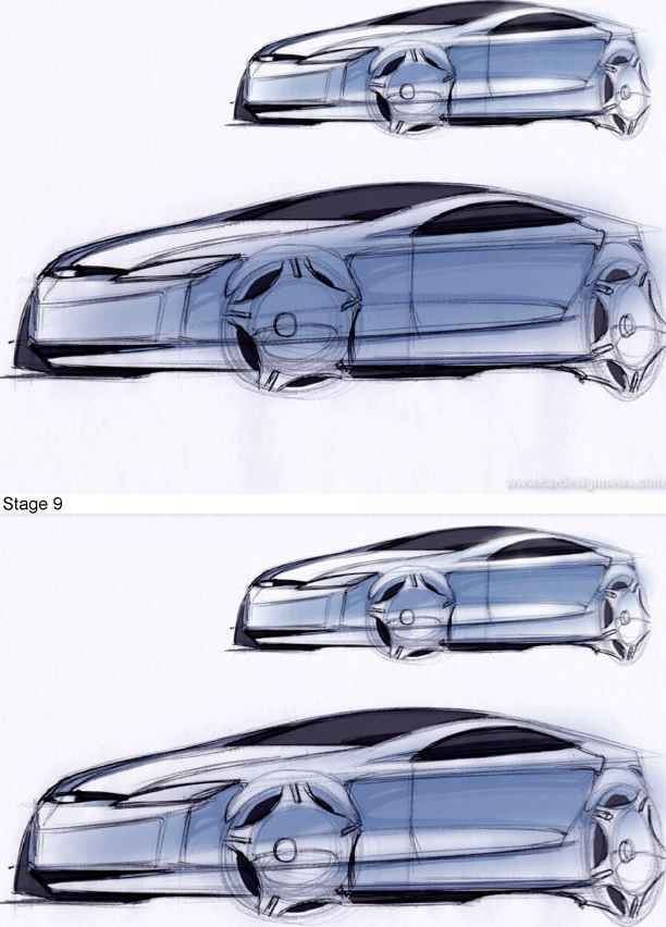 Two Point Perspective Car