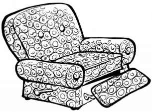 Comfy Couch Anime Cartoon Chair Drawing A