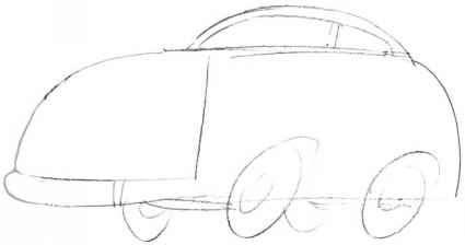 Чертеж коробчатого автомобиля
