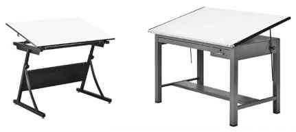 Angular Movable Art Desk