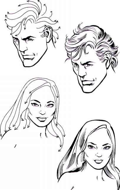 Terrific How To Draw Hair Draw Cartoons Joshua Nava Arts Short Hairstyles For Black Women Fulllsitofus