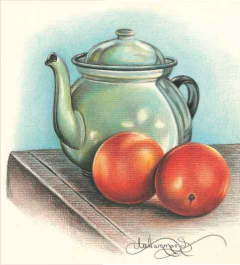 Pencil Shading Still Life Drawings