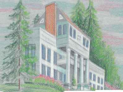 Pencil Drawing House And Tree