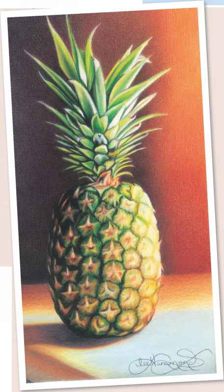 How Color Pencil Pineapple