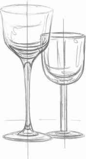 Wine Glasses Drawing
