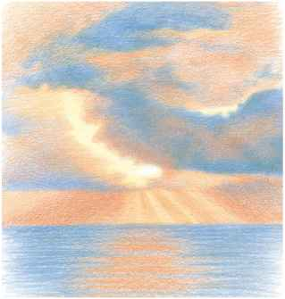 Colored Pencil Clouds