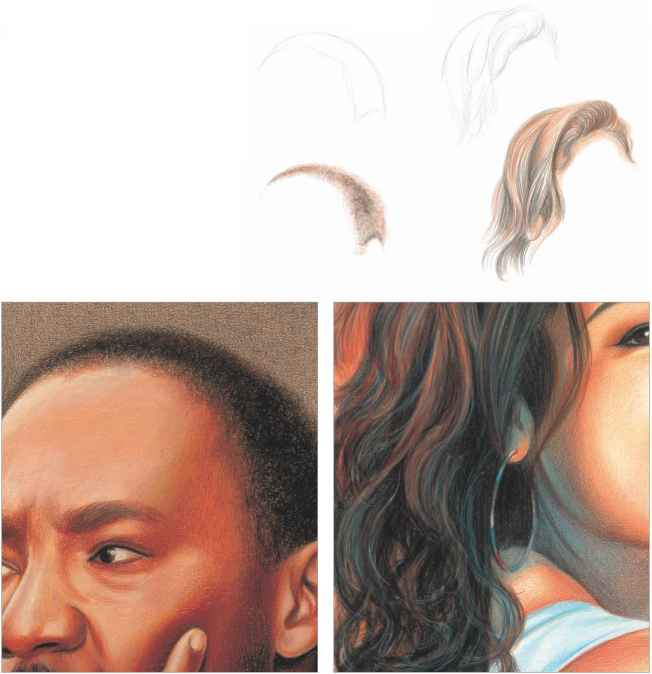 Continue To Layer The Skin Tones And Shadows - Drawing In Colored Pencil