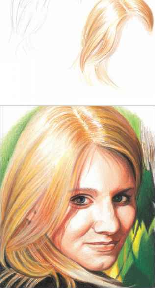 Long Hair Coloured Pencil