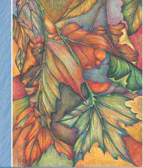 Coloured pencil tutorials leaf drawing pencil