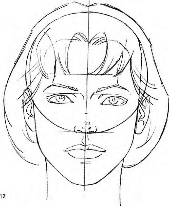 Line Drawing Of Human Face : The modern female head drawing comics joshua nava arts