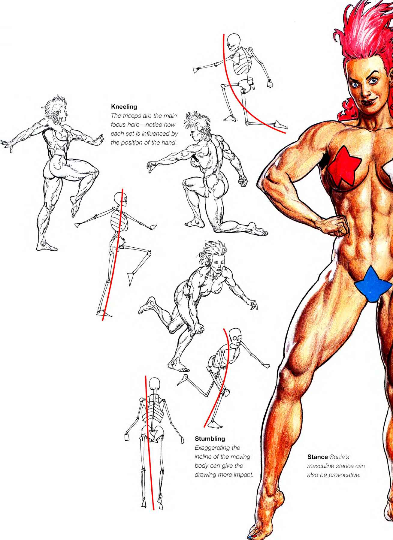 Drawing Masculine Action Poses Creating Action Figures