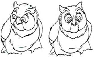 disney drawing bambi and owl