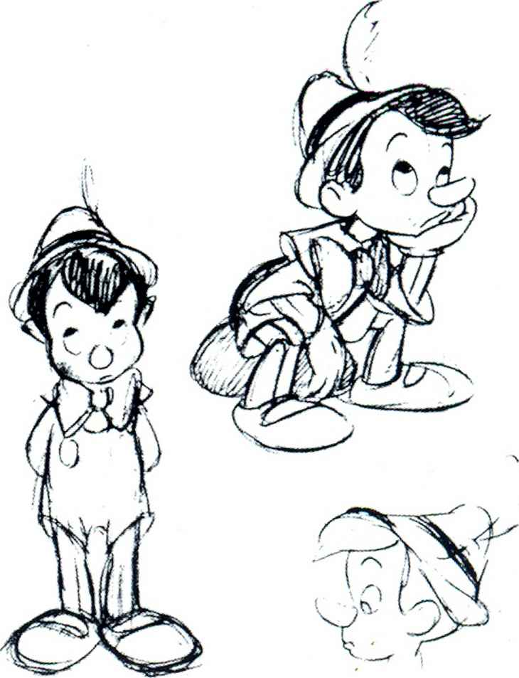 How Draw Pinocchio