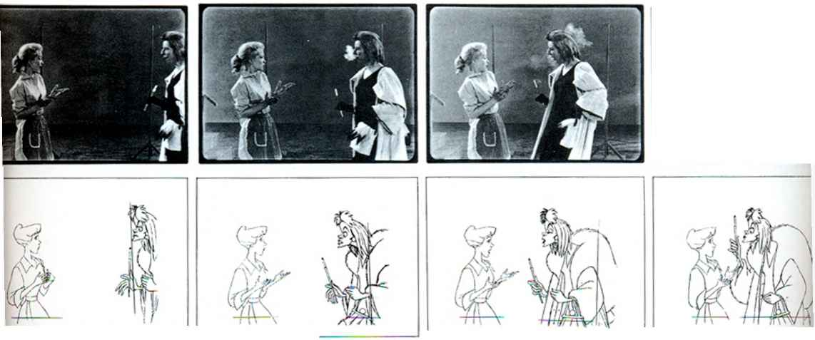 the uses of live action in drawing humans and animals disney animation