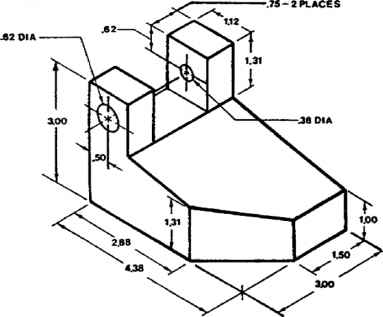Isometric Dimensions Horizontal View