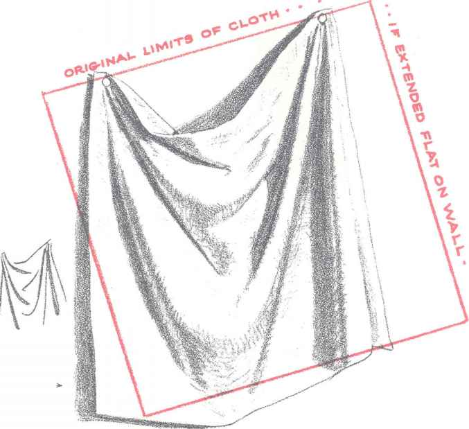 Fashion Technical Drawing Drapery
