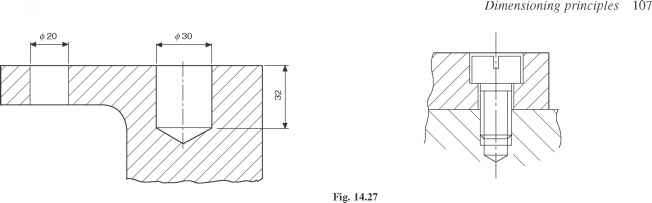 Engineer Drawing Counterbore Example