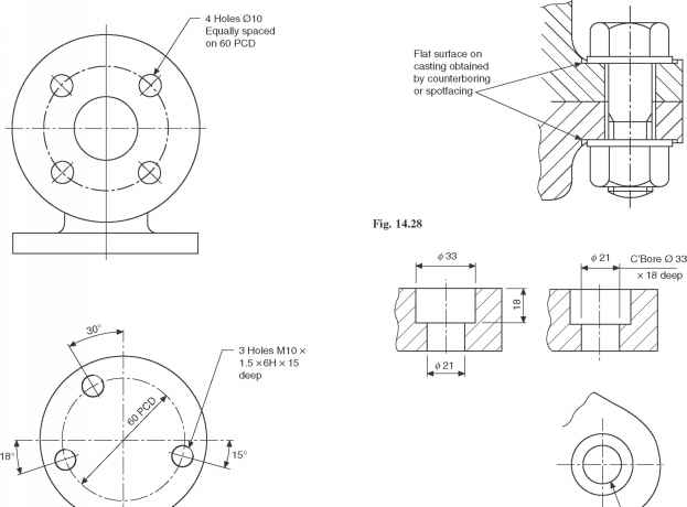 Engineering Drawing Counterbore