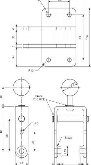 Bushed bearing bracket  Engineering