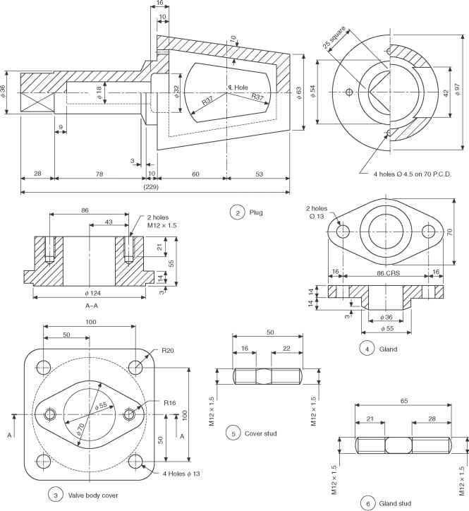 Sectioning Drawing Engineering Flywheel