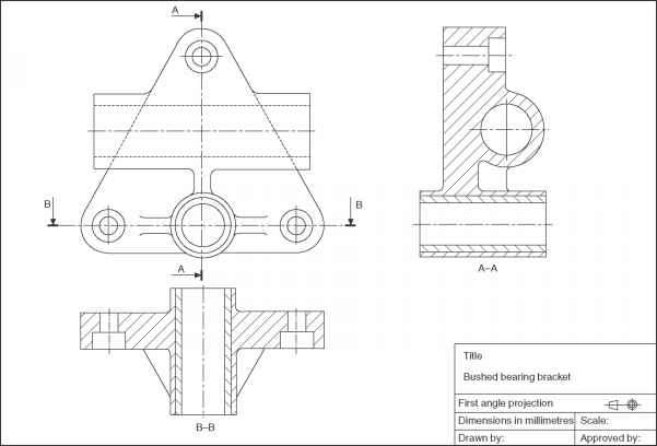 Engineering Drawing Assembly Example