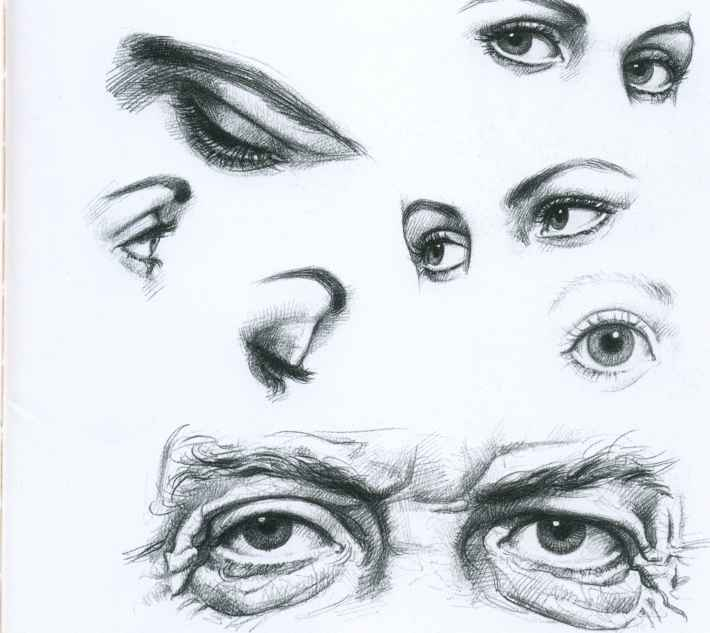 Fashion Designing Drawings Eyes
