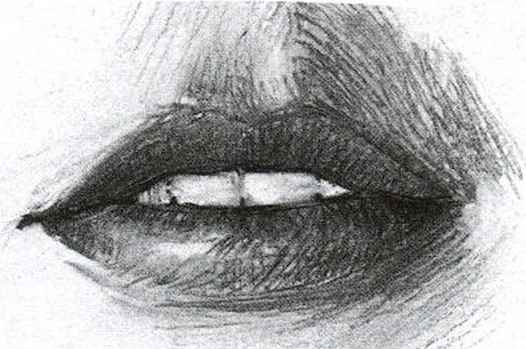 How Draw Relaxed Lips
