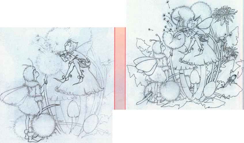Four Seasons Fairy Drawings