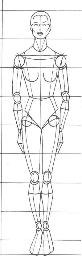 Fashion Design Sketch Model Outlines