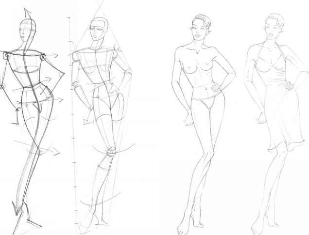 Fashion Body Outline Template