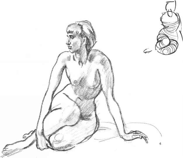 Nude Drawing Extreme Foreshortening