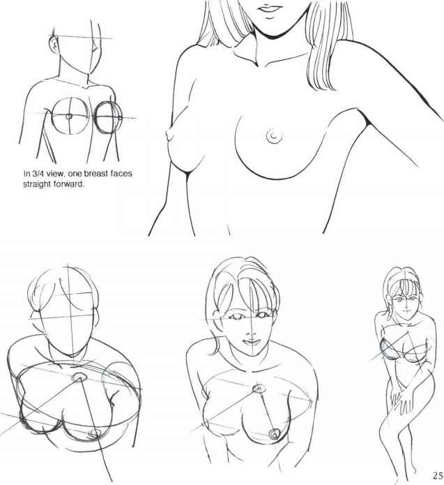 Crumpled boobs drawn nipples