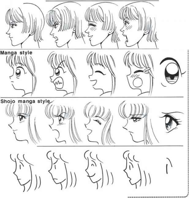 Manga Female Face Structure