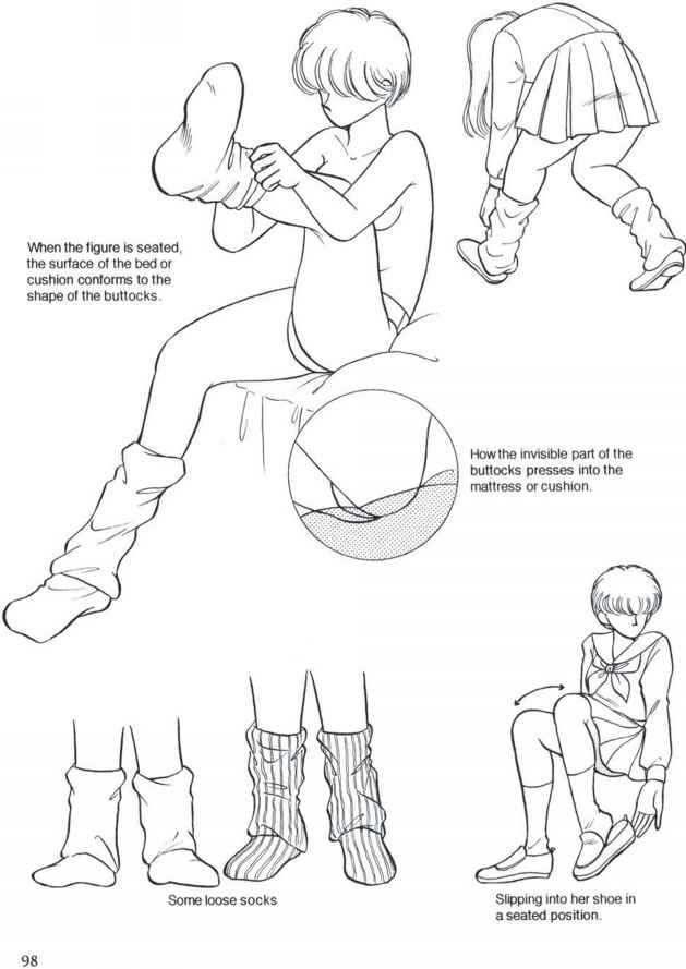 How draw manga shoes
