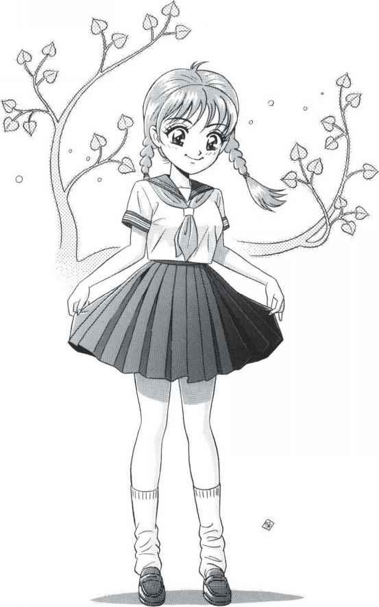 Girl Manga Characters In Middy Uniform Female