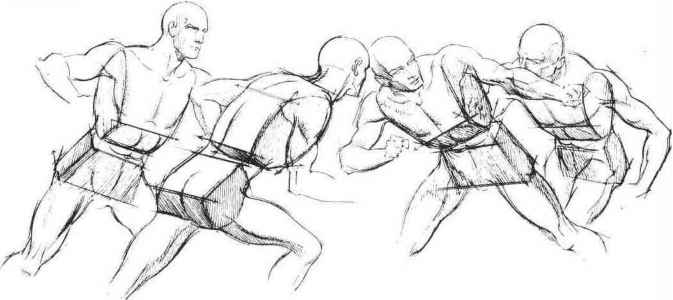 Human Positions Drawing
