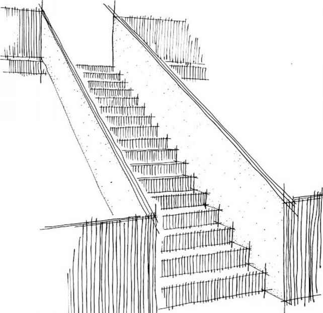 How Draw Stair Freehand
