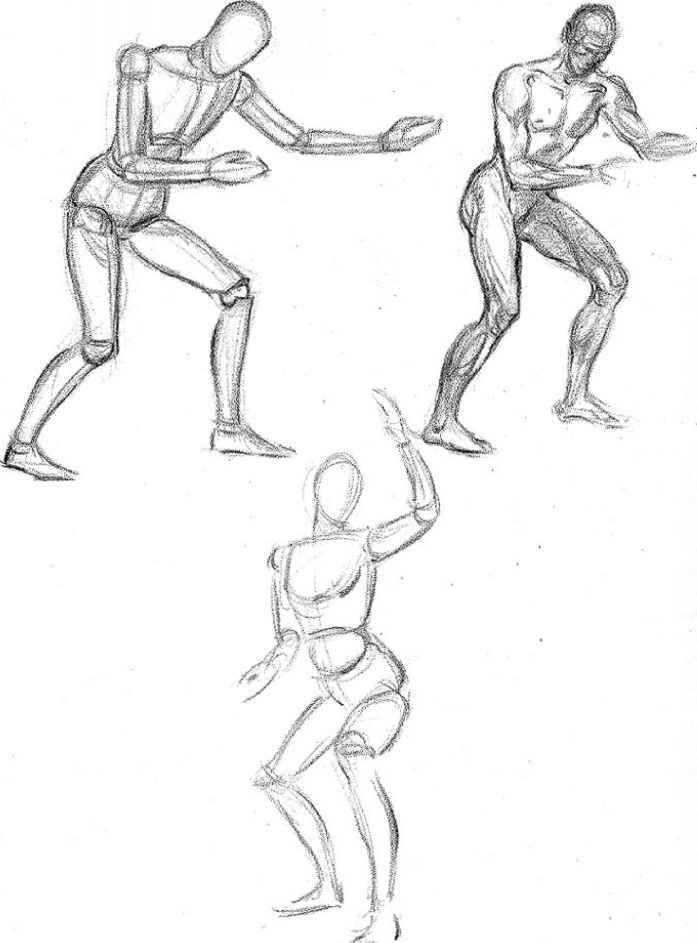 Ball Joint Human Figures Sketches