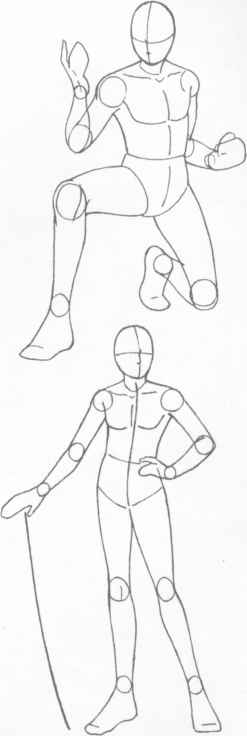 How draw human figures anime boy sketch outline