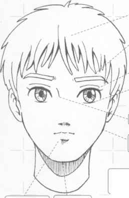 Young Boy Expression Manga Sketch