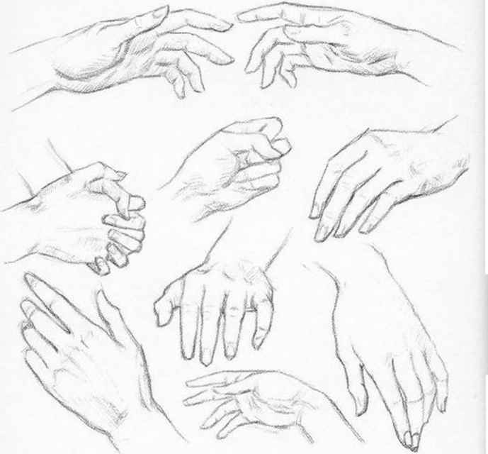 Draw Female Hand