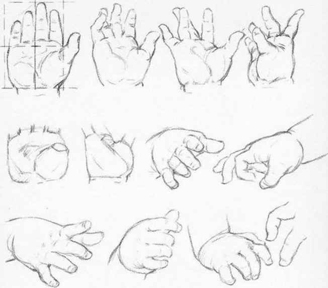 Hand Drawing Foreshortened View