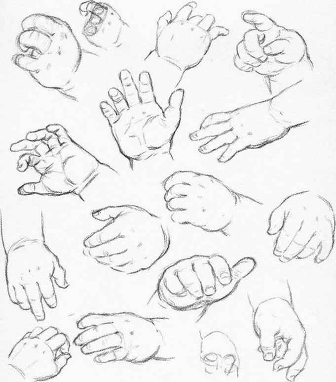 How Sketch Baby Hands