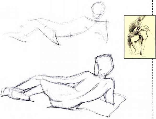 Reclining Figure Drawing