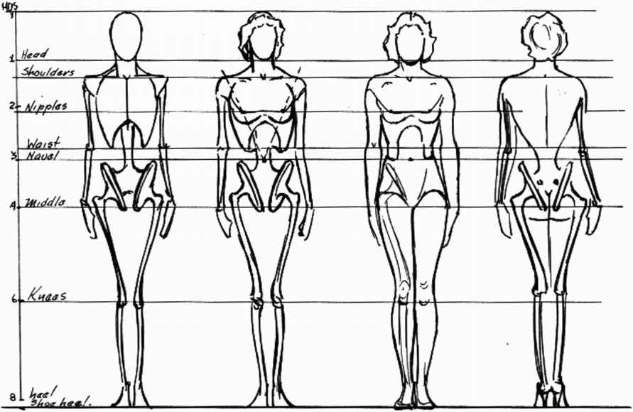 sketching the figure in action from imagination ideal proportion