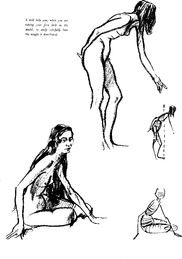 Female Figure Drawing Model Poses